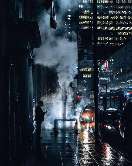 Cinematic picture of Toronto street