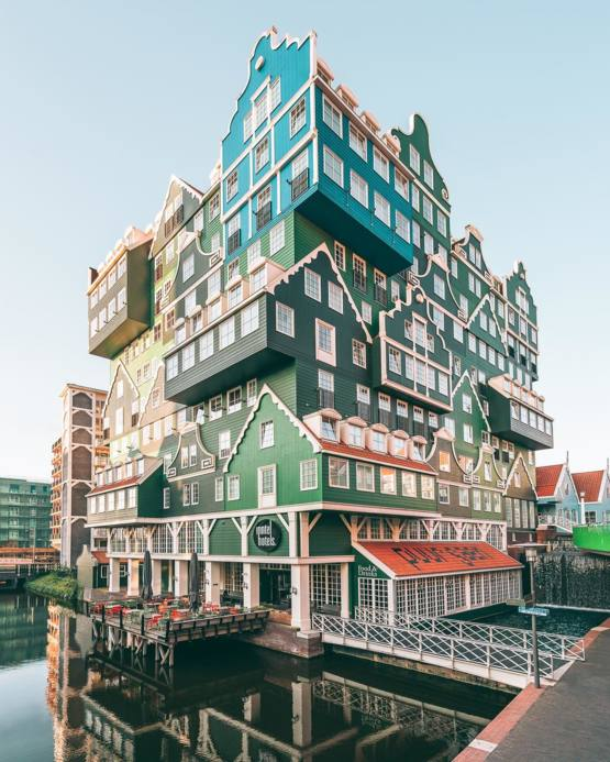 This hotel in Netherlands looks like a Lego house.
