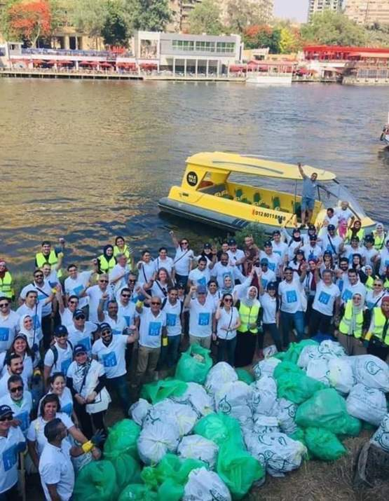 Cleaning the Nile river in Egypt #trashtag