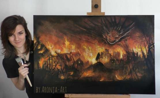 "Just finished this Dragon-Painting last week ""The Lord Of Fire"""