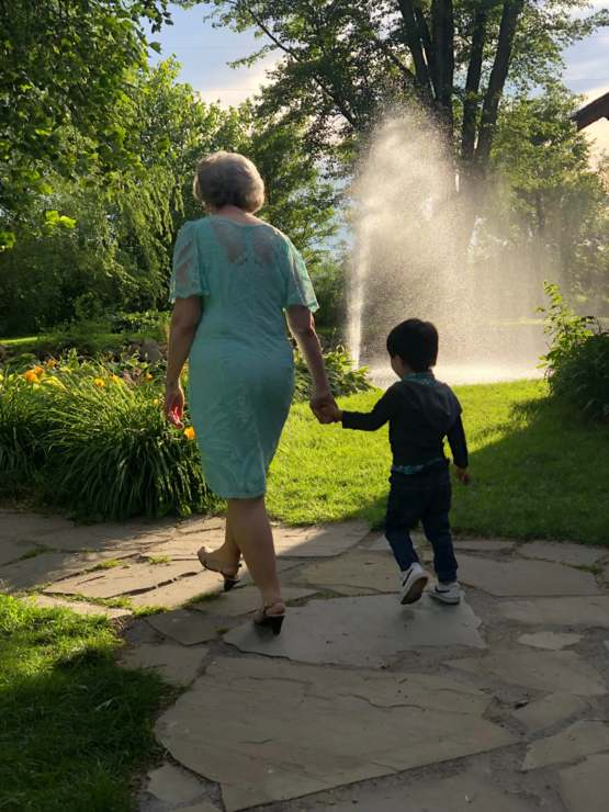 "A year ago, we adopted our autistic son from Korea. At a recent wedding, he spontaneously took my grandmother's hand and led her on a walk. First time ever! She called it one of her ""treasured moments."""