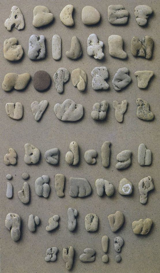 If you spend a lot of time in the great outdoors, why not collect your own stone alphabet!