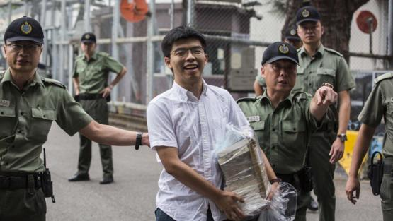 Joshua Wong got released from jail today. He said that he will lead the protest, just like the previous one in 2014
