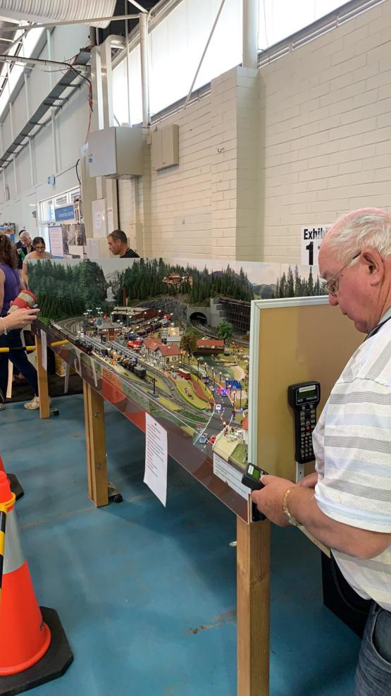 My Grandad with his award winning model railway