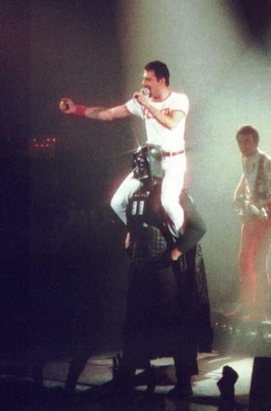 You may be cool, but you will never be Freddie Mercury riding Darth Vader cool.