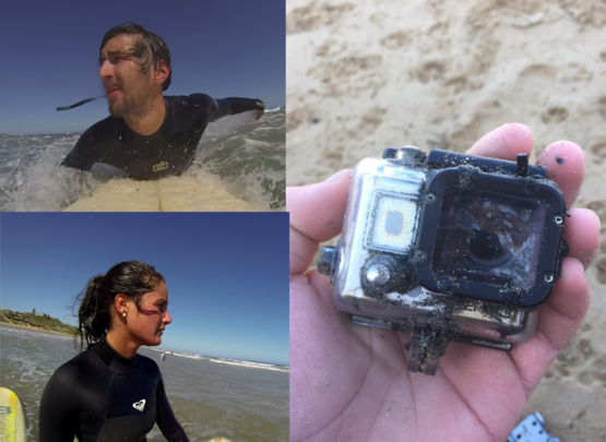 Found this GoPro today in Victoria, Australia. its been in the rock pools since late 2012. I wonder if anyone here recognised these people by some crazy chance
