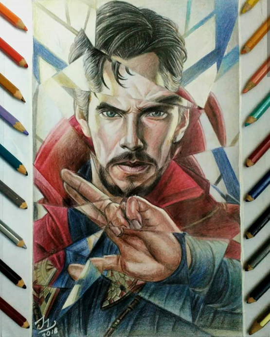Doctor Strange. Work completed in 26 hours. Hope you like it.