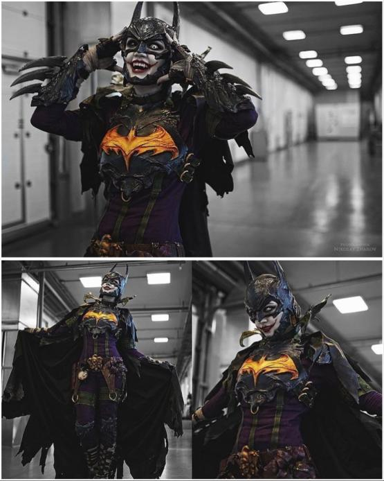 This Batman and Joker in one cosplay is kind of awesome (credit: nikolay_photo)