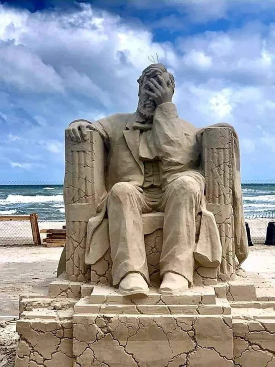 The winning sand sculpture of 2019's Texas Sand Sculpture Festival