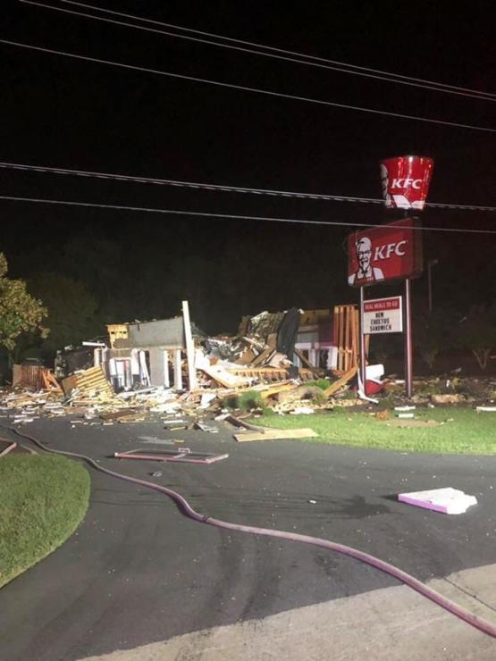Our local KFC exploded overnight