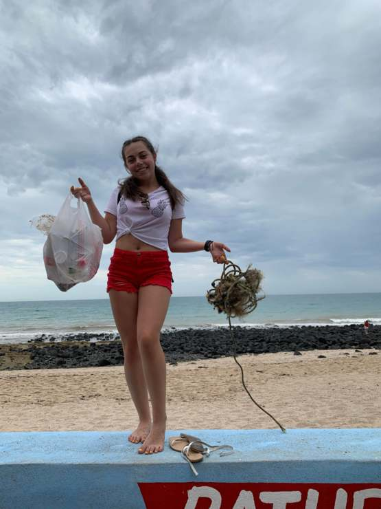Always doing #trashtag. Even on our vacation to Puerto Peñasco, Mexico.