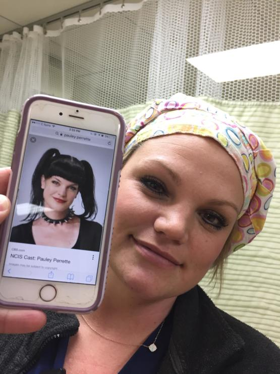 I told my friend she looks like that actress from that show where they enhance photos.