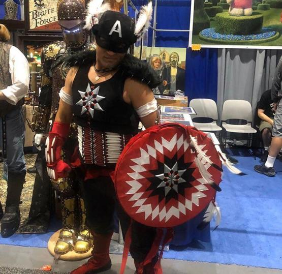 Captain Native America cosplay at San Diego Comic Con
