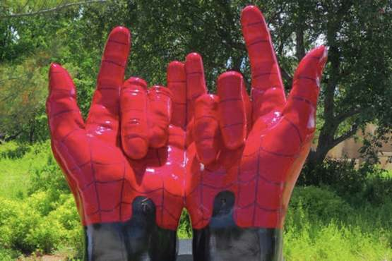 "Christian woman demands these ""demonic hands, shaped like devil horns"" be removed from city zoo."