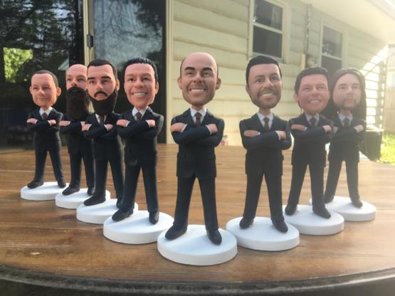 I got custom bobbleheads made for the groomsmen in my wedding.