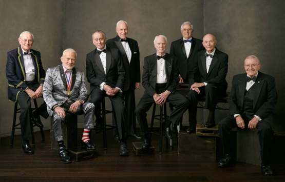 Buzz Aldrin in a fashion league of his own.