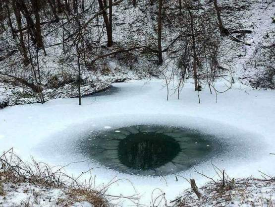 A frigid pond