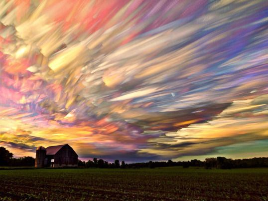 A time lapse photo of hundreds of sunsets