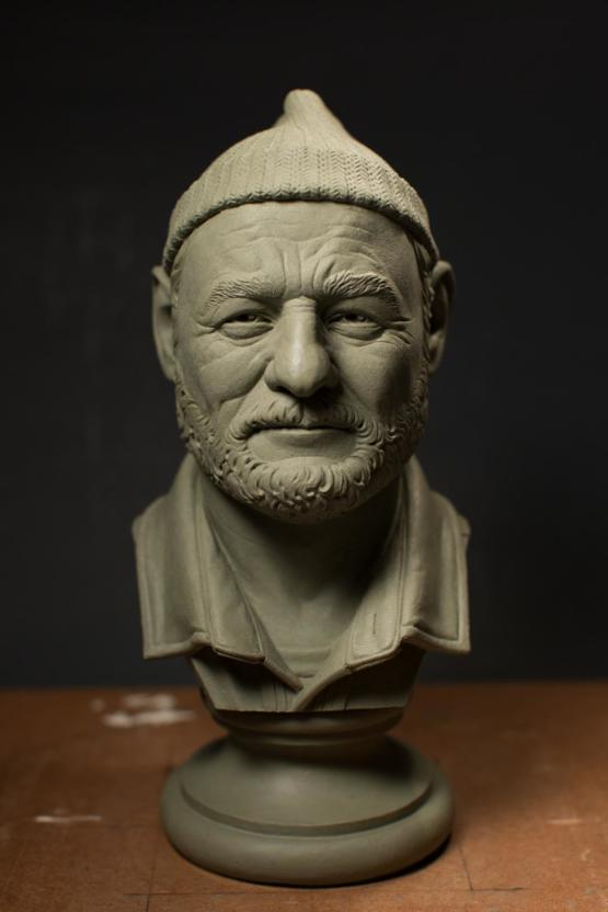 Someone on Reddit asked me to sculpt Bill Murray, but I already did. Here's the photo. He's Steve Zissou.