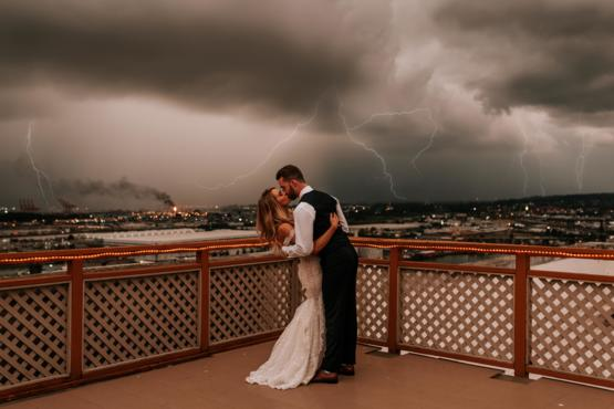 Lightning storm during my wedding night in Tacoma, Washington, September 7, 2019. Photo by: Kaitlin Evans Photography