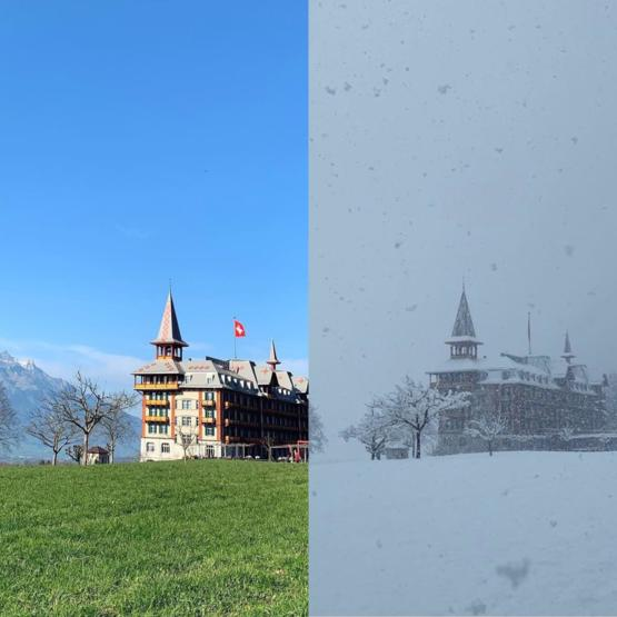 Wednesday afternoon vs Thursday morning, Switzerland, April 2019