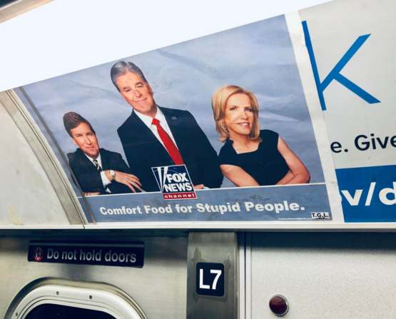 Fake Fox News Ads are up in the NYC Subway
