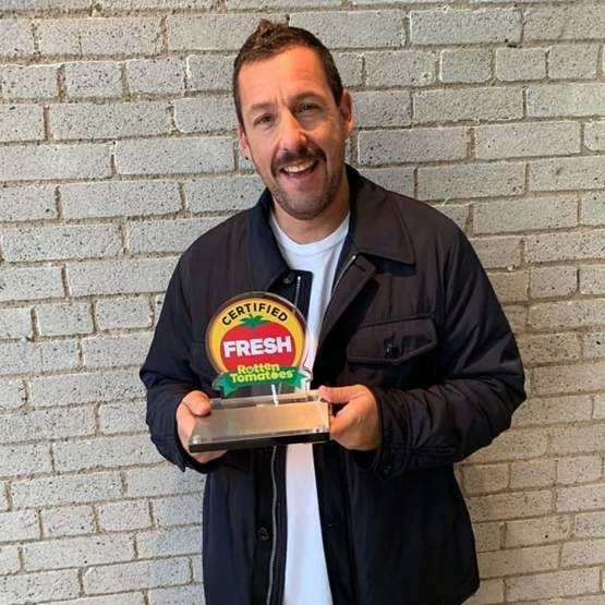 Rotten Tomatoes gave Adam Sandler a belated birthday present. His comedy special '100% Fresh' is actually Certified Fresh at 90%, and so they gave him a gift for breaking away from most of his work getting bad scores on the site