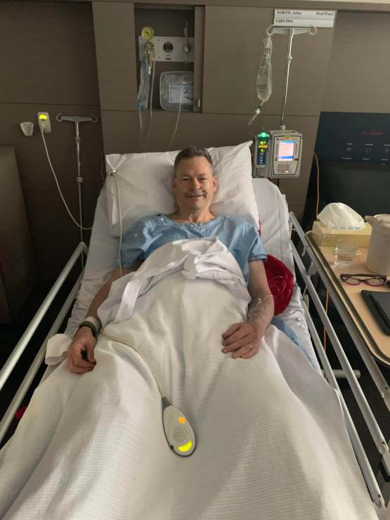After a year of battle, my dad is now cancer free!