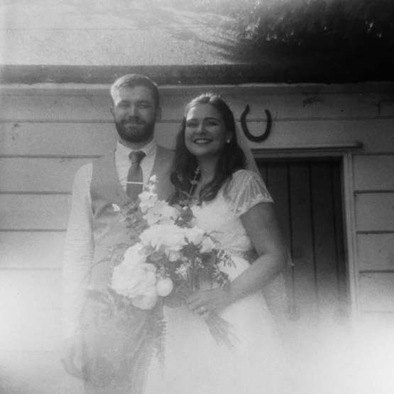 I got married 25.08.2019! Here's a picture of us that my Uncle shot on his Kodak Duaflex II. I love how it turned out!