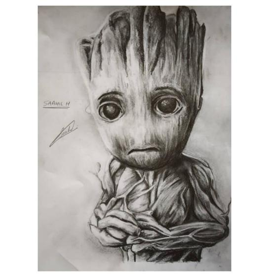 A GROOT sketch by me from the Marvel universe! Hope someone likes it :)