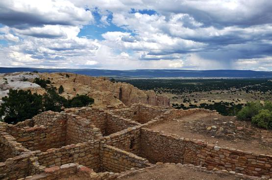 The ruins of Atsinna Pueblo in current day New Mexico. Occupied roughly from 1275 to 1400 with up to 800 rooms.