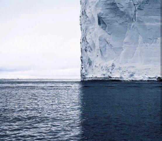 4 shades of blue in Antarctica