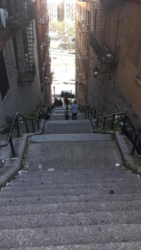 I went to the same staircase the Joker danced on. It's a bit steep, I can't believe he danced on this lol