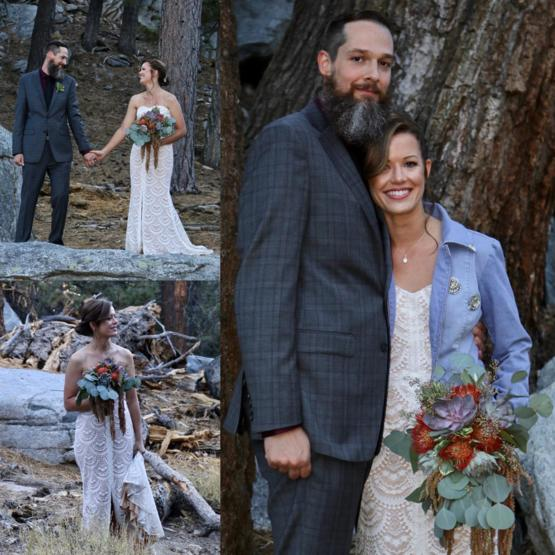 Reddit, we had a small wedding in the mountains ????. Only eight guests, we would like to share a few photos with everyone because we're pretty proud.