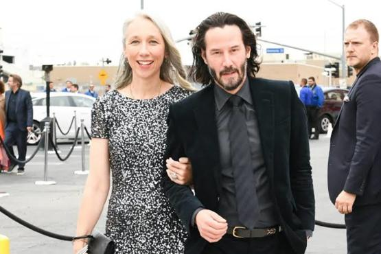 A lovely photo of Keanu Reeves with his Girlfriend Alexandra Grant.