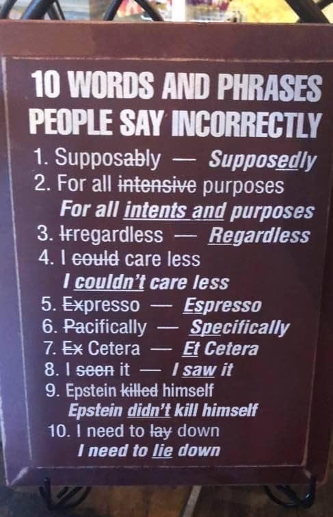 Commonly misuses phrases and corrections, Super helpful!