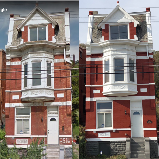 My house before and after getting painted