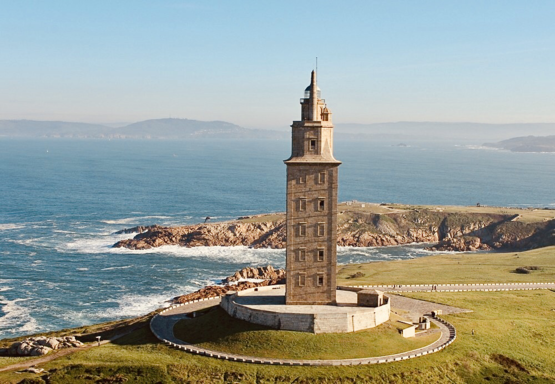 One of the most intact surviving Roman structures and the oldest lighthouse in the world, the ancient Tower of Hercules.