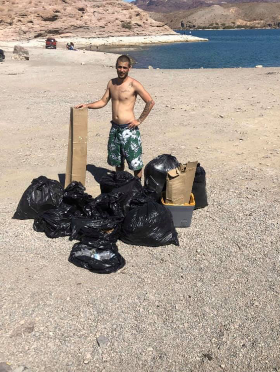 Donovan Thayer cleaned up Nelson's Landing, is trash tag still a thing #trashtag