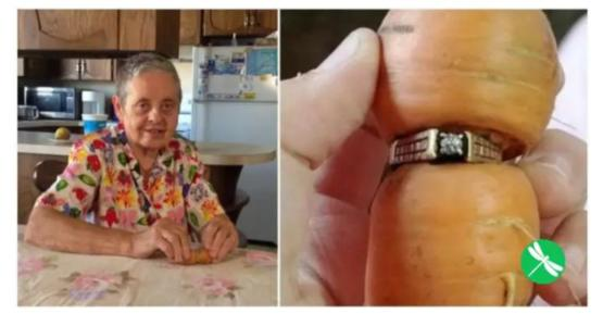 Woman loses engagement ring in garden finds it 13 years later on a carrot