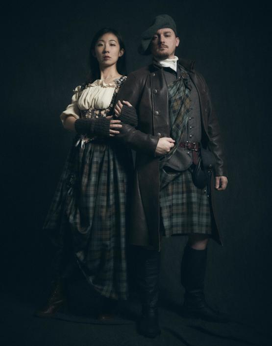 GF started watching Outlander recently so I taught myself to sew and made us Halloween costumes. Finally got around to photographing them. I made the dress/hike, kilt, vest, and coat.