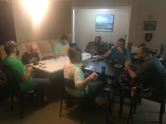 My childhood friends. Every Sunday night for years we have met to play Commander, catch a buzz, and make sure we stay in touch.