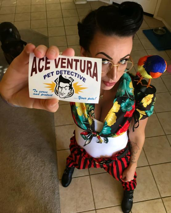 My wife dressed up as Ace Ventura for an event yesterday