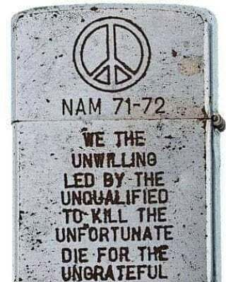 Zippo Lighter from an unknown Vietnam Veteran