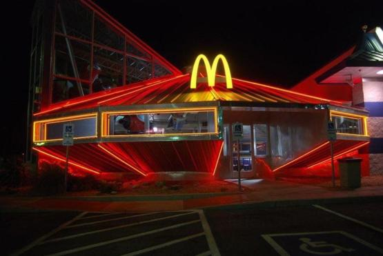 A McDonald's in Roswell, NM