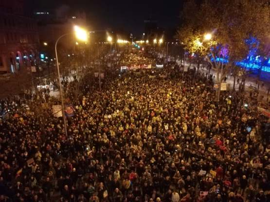 500k People at Madrid Climate Strike Right Now