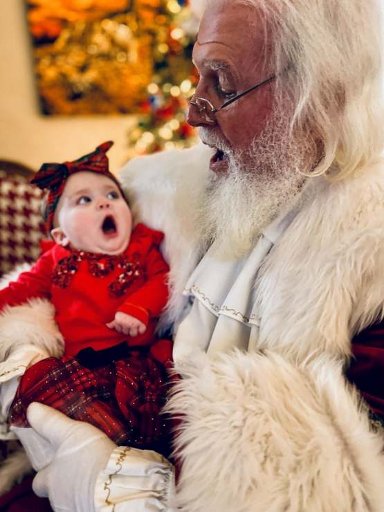 My kid's first time meeting Santa went better than I ever dreamed it would.