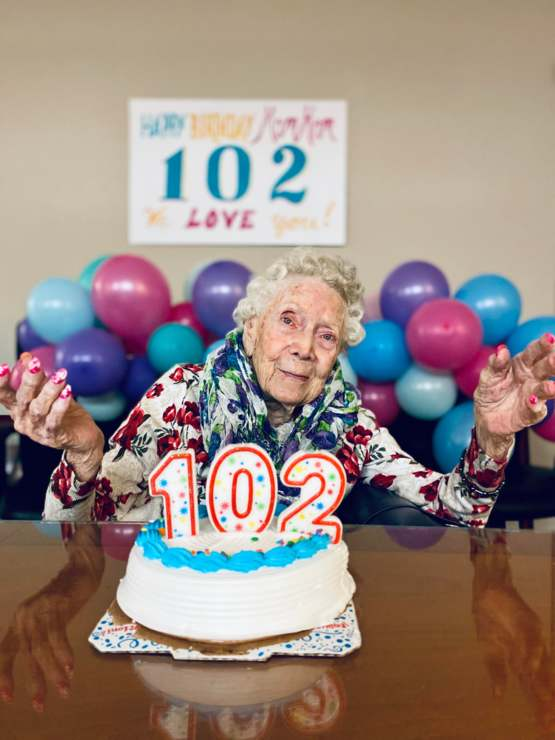 My grandmother turns 102 today!