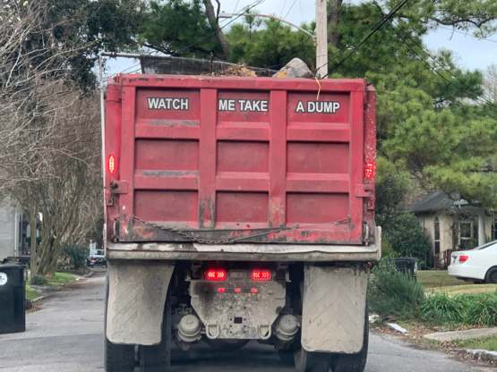 Stuck behind this truck today and laughed like a 10 year old.