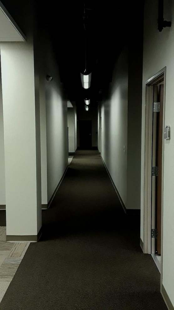 The building I clean has horror movie potential I think
